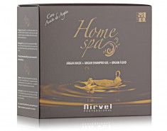 NIRVEL PROFESSIONAL Комплекс для глубокого увлажнения и восстановления волос (шампунь, маска, флюид) / ARGAN Home SPA PACK