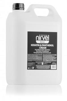 NIRVEL PROFESSIONAL Кондиционер питательный с кератином и пантенолом для сухих, ломких и поврежденных волос / KERATIN & PANTHENOL CREAM 5000 мл