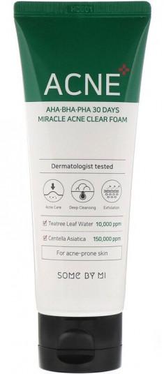 SOME BY MI Пенка очищающая с кислотами для проблемной кожи / AHA-BHA-PHA 100 мл