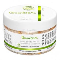 GreenIDEAL, Соль для педикюра «Календула и зеленый чай», 300 г