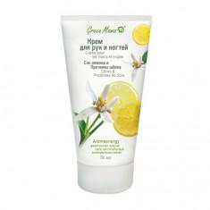 Green Mama, Крем для рук и ногтей «Сок лимона и протеины шелка», 50 мл