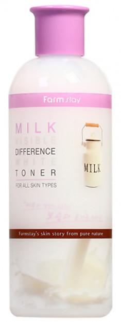 FARMSTAY Тонер с экстрактом молока, выравнивающий тон кожи 350 мл