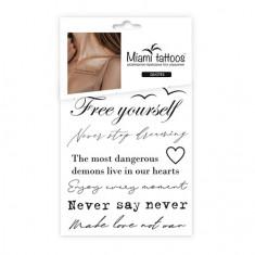 Miami Tattoos, Переводные тату Quotes