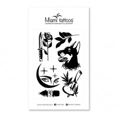Miami Tattoos, Переводные тату Midnight by Sticksandbones