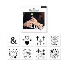 Miami Tattoos, Комплект преводных тату Symbols, 8 шт.
