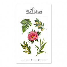 Miami Tattoos, Переводные тату Botanical by Sticksandbones