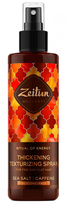 ZEITUN Спрей текстурирующий с морской солью и кофеином для объема тонких волос Ритуал энергии 200 мл