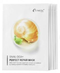 Набор Тканевых масок для лица МУЦИН УЛИТКИ ESTHETIC HOUSE Snail Cica+ Perfect Repair Mask 25 мл*5шт