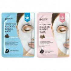 маска тканевая кислородная eyenlip detoxifying black o2 bubble mask
