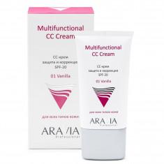 Aravia professionalсс-крем защитный spf-20 multifunctional cc cream, vanilla 01, 50 мл