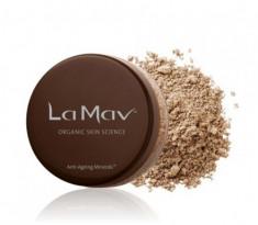 Минеральная омолаживающая пудра-основа La Mav Anti-Ageing Mineral Foundation SPF15 Dark 8г