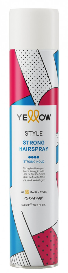 YELLOW Лак сильной фиксации для волос / YE STYLE STRONG HAIRSPRAY 500 мл
