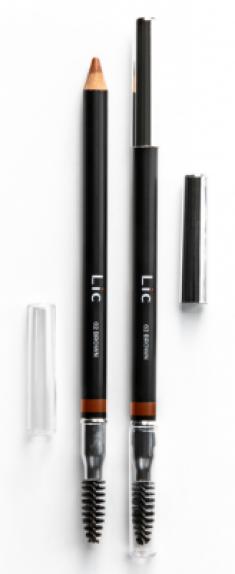 Карандаш пудровый для бровей Lic Eyebrow pencil 02 Brown
