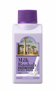 Гель для душа с ароматом детской присыпки Milk Baobab Body Wash Baby Powder Travel Edition 70мл