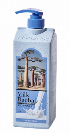 Гель для душа с ароматом белого мускуса Milk Baobab Original Body Wash White Musk 1000мл
