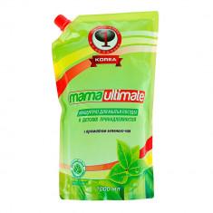 Mama Ultimate Зеленый чай Концентрат для мытья посуды 1000мл запасной блок