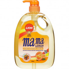 Lion Mama Lemon Tough on Grease Апельсин Гель для мытья посуды 1000мл