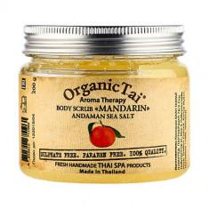 OrganicTai Скраб для тела на основе соли Мандарин 200мл