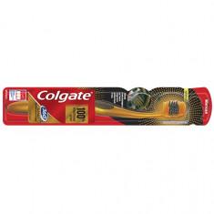 Колгейт Зубная щетка 360 Золотая с древесным углем мягкая COLGATE