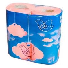 Lotti Бумага туалетная 2 слоя 4шт розовая