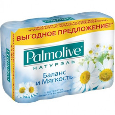 Palmolive Мыло Баланс и Мягкость с экстрактом ромашки и витамином Е 4*90г