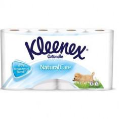 Клинекс/Kleenex Туалетная бумага белая Натурал Кэйр трехслойная 8шт