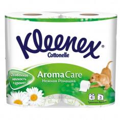 Kleenex Туалетная бумага Нежная Ромашка трехслойная 4шт