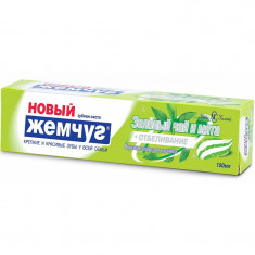Новый жемчуг Зубная паста Зеленый чай+отбеливание 100мл НОВЫЙ ЖЕМЧУГ