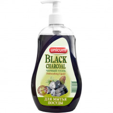 Unicum Средство для мытья посуды Черный уголь 550мл