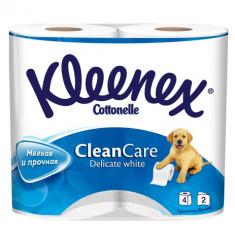 Kleenex Туалетная бумага Деликат Уайт двухслойная белая 4шт