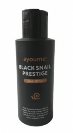 Шампунь для волос с муцином улитки AYOUME BLACK SNAIL PRESTIGE SHAMPOO 100мл