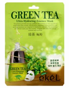 Тканевая маска для лица с экстрактом зеленого чая EKEL Green Tea Ultra Hydrating Essence Mask 25г