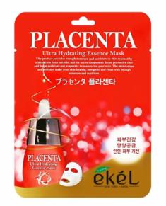 Тканевая маска для лица с экстрактом плаценты EKEL Placenta Ultra Hydrating Essence Mask 25г