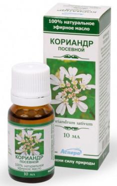 Аспера масло кориандра эфирное 10мл