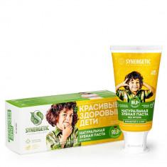 Synergetic Паста зубная для детей с экстрактами клубнички и банана для мальчиков 50г